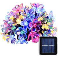 Qedertek Fairy Blossom Flower Solar String Lights