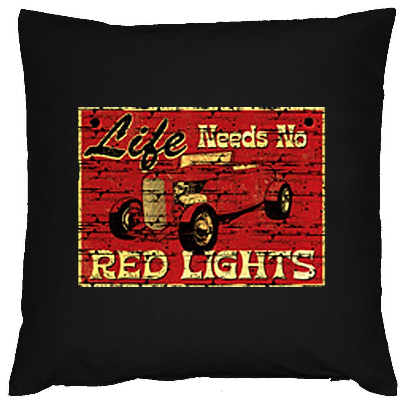Auto Oldtimer Red Light Deko Kissen mit Füllung Farbe: schwarz Größe: 40x40cm bestellen