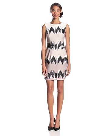 Vince Camuto Women's Sleeveless Shift Dress, Jagged, 4