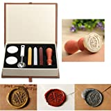 Wax Seal Stamp Kit,Mingting Vintage Wax Stamp Seal Kit Initial Letters Alphabet (O) (Color: O)