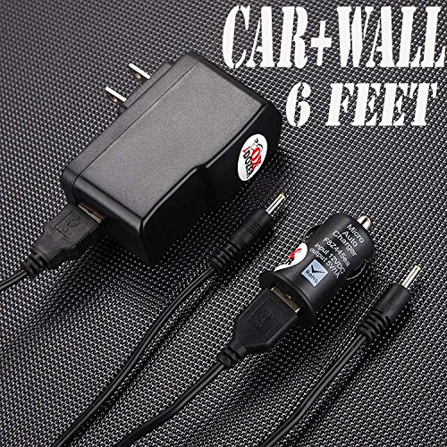 (6Ch) Rca Tablet Pc All Models Power Supply With Round Jack Plug (Set Of 2 Car & Wall) front-185181