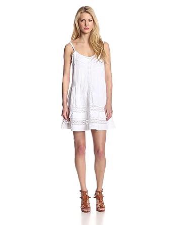 Twelfth Street by Cynthia Vincent Women's Mini Western Lace Dress, White, Petite