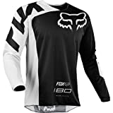 Fox Racing 180 Race Men's Off-Road Motorcycle Jersey - Black/X-Large (Color: Black, Tamaño: X-Large)