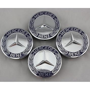 X4 Mercedes-Benz Centre Hub Badges 75mm