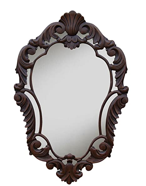 Hickory Manor House French Curved Mirror, Walnut