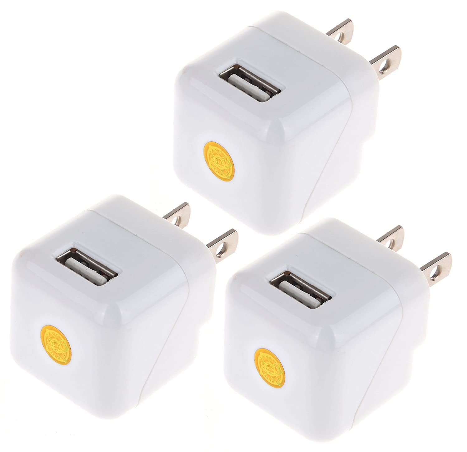Cube Color USB AC/DC 1.0 AMP Power Adapter Wall Charger NEW DESIGN for iPhone 3G 3GS 4 4s 5 5s 5c 6 6 Plus ,iPod Touch Samsung Galaxy S1 S2 S3 S4 S5 and other Devices