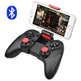 ALLCACA Bluetooth Game Controller Wireless Gamepad Rechargeable Phone Controller with Vibrating Function, Compatible with Android Phone, Tablet, TV, TV Box, VR (Not for iphone) (Color: Black)