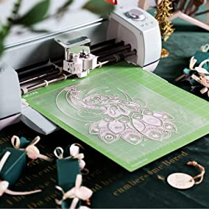 Nicapa StandardGrip Cutting Mat for Cricut Explore Air 2 Maker (12x12 inch,10 mats) Standard Adhesive Sticky Green Quilting Cricket Cut Mats Replacement Sheet Accessories for Cricut (Color: green for Cricut 12*12 10pack, Tamaño: StandardGrip)