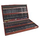 Derwent Colored Pencils, 72 Studio, 3.4mm Core, Wooden Box, 72 Count (32199) (Color: orange, Tamaño: 72 Count)