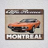Alfa Romeo Montreal Car Tin Sign Metal Sign