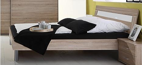 Bett Doppelbett Schlafzimmer Eiche Sägerau Dekor 180 x 200 cm inkl. Kopfteil ...
