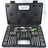 40pc SAE Standard Tap & Die Set w/ Case Screw Extractor Remover Kit Thread NEW ..#from-by#_1st_web_sales_30171782122752