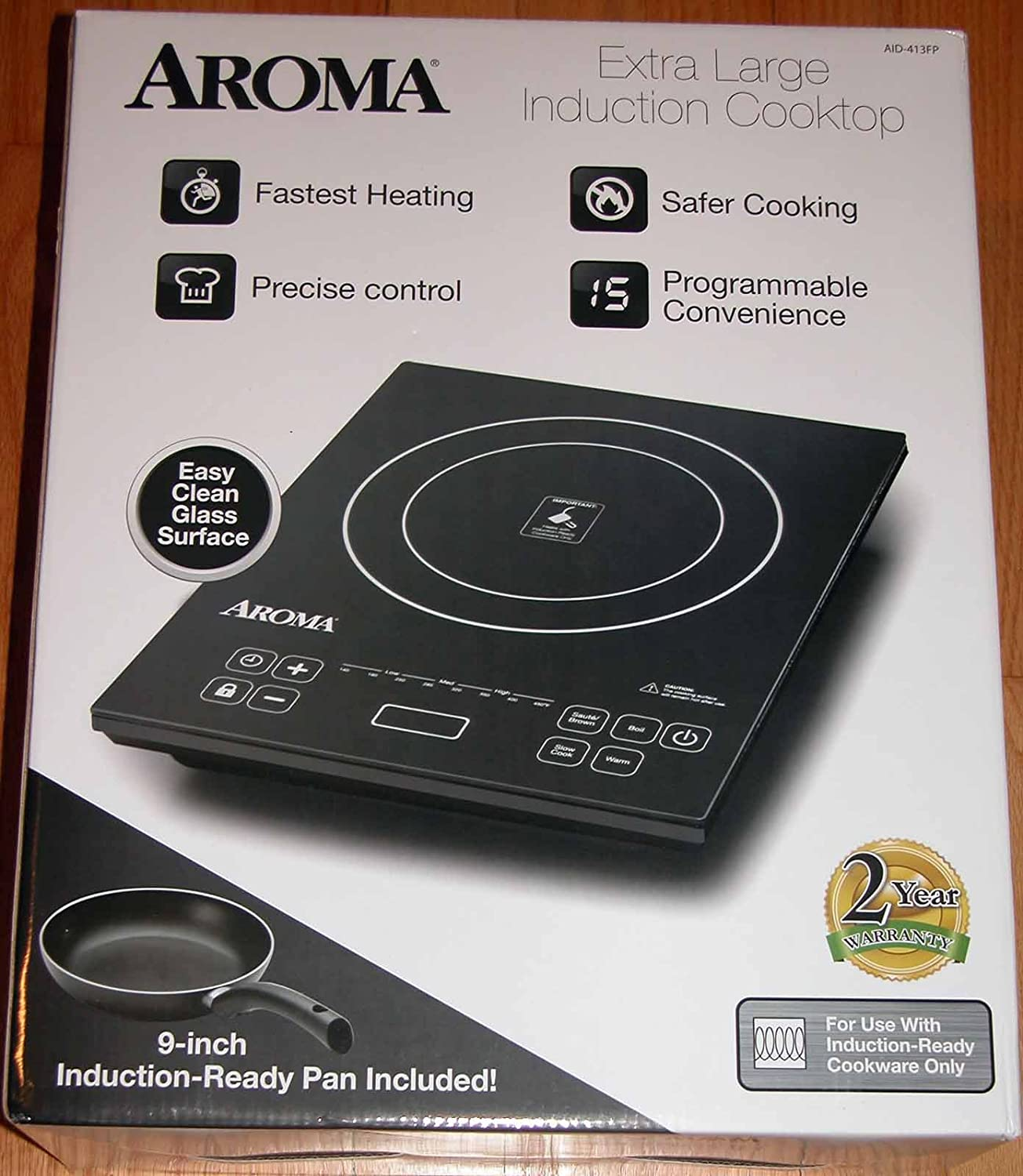 Aroma Extra Large Induction Cooktop AID-413FP