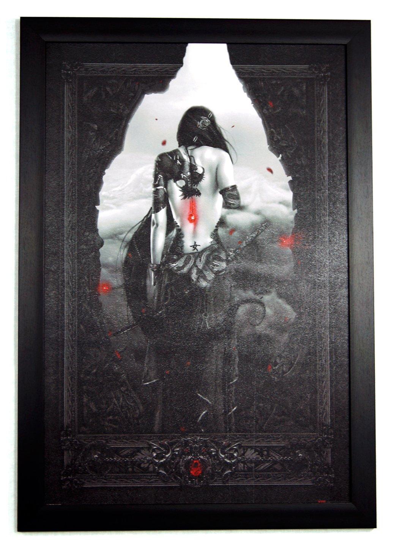 Nekro - Girl Samurai 24x36 Framed Art Poster (G1-1009) fleetwood mac stevie nicks mick lindsey buckingham john mcvie 24x36 poster