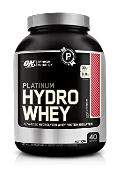 Optimum Nutrition Platinum Hydro Whey Protein Supercharged Strawberry, 1er Pack (1 x 1.6 kg)