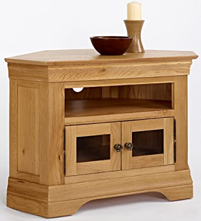 Ametis Normandy Oak Corner TV Unit, Size: H 63cm, W 95cm, D 50cm