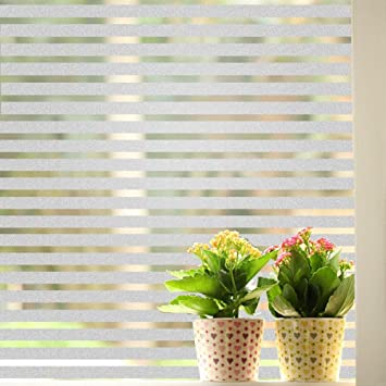 Buy New Fashion PVC Windows Glass Film Cm Stripe Frosted - Window stickers for home india