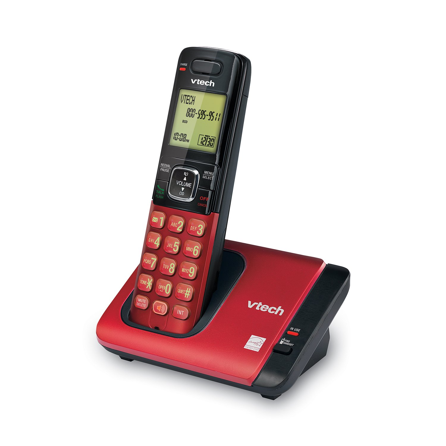 Amazon.com : VTech CS6719-16 DECT 6.0 Phone with Caller ID/Call Waiting, 1 Cordless Handset, Red : Caller Id Displays