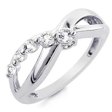 eternity infinity ring symbol jewelry silver diamond