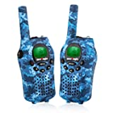 WesTayin Walkie Talkies for Kids, Range Up to 4 Mile with Vox-Hands Free, Green LCD Backlit with Flashlight, Kids Walkie Talkies Boys and Girls, 2 Pack (Blue Camo) (Color: RED, Tamaño: Mini)