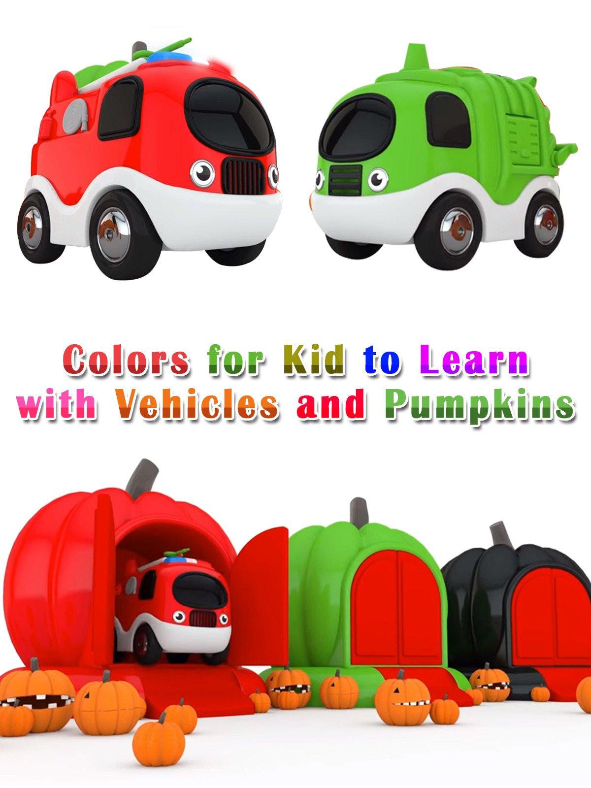Colors for Kid to Learn with Vehicles and Pumpkins