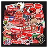 Supreme Sticker Decals(127pcs),Sanmatic Supreme Laptop Vinyl Stickers for Waterbottle,Car,Snowboard,Luggage,Motorcycle,iPhone,MacBook,Wall,DIY Party Supplie Patches Decal (Color: supreme127)
