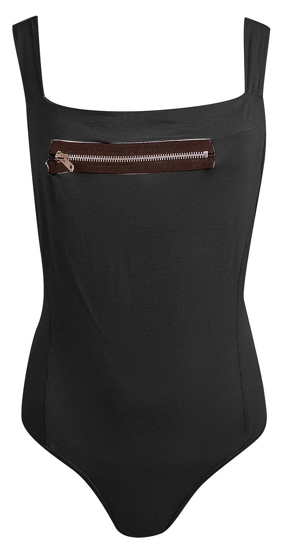 Damen-ärmellose Top mit Nacken Open Back Strappy Gymnastikanzug Bodysuit günstig bestellen