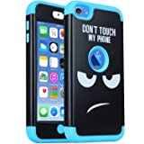 iPod Touch 6th Generation Case, iPod Touch 7 Case,SAVYOU 3 in 1 Combo Hybrid Impact Resistant Shockproof Case Cover Protective for Apple iPod Touch5/ 6th / 7th Generation (Color: F-Blue)
