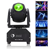 U`King Moving Head Light RGBW (4 in 1) Stage Light with DMX512 for Stage Lighting DJ Disco Club Party Dance Wedding Bar Theater Pub (one pcs) (Color: one piece)