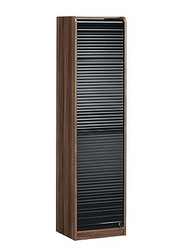 maja 18474047 rollo regal 478 x x 400 mm merano nachbildung schwarz hochglanz dee410. Black Bedroom Furniture Sets. Home Design Ideas