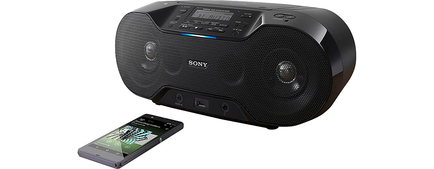 sony bluetooth stereo boombox fm dab radio cd player usb. Black Bedroom Furniture Sets. Home Design Ideas