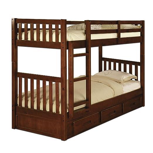 Twin/Twin Bunk Bed - Merlot