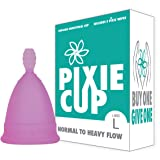Ranked 1 for Most Comfortable Menstrual Cup and Best Removal Stem - Every Cup Purchased One is Given to a Woman in Need! (Large) (Tamaño: Large)