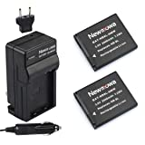 Newmowa NB-8L Battery (2-Pack) and Charger kit for Canon NB-8L,CB-2LA and Canon PowerShot A2200, A3000 IS, A3100 IS, A3200 IS, A3300 IS