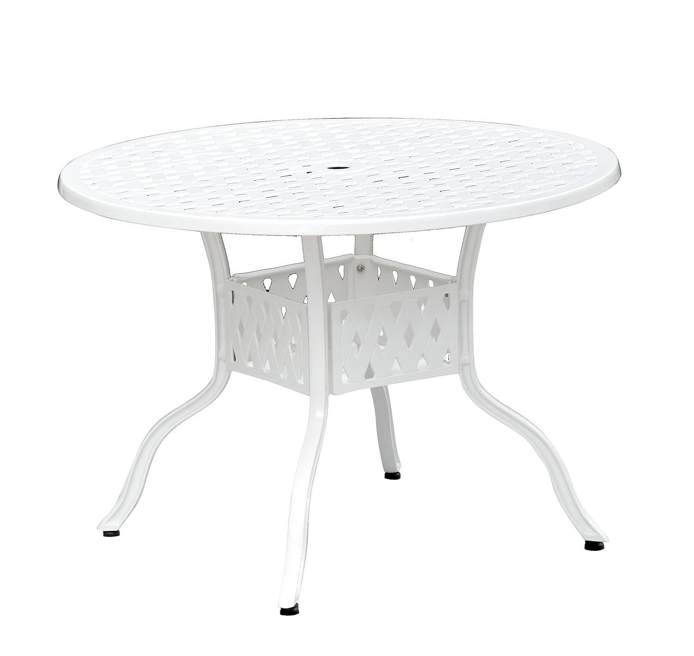 Inko Aluguss Tisch Nexus Weiß rund 106 cm 201-W günstig kaufen