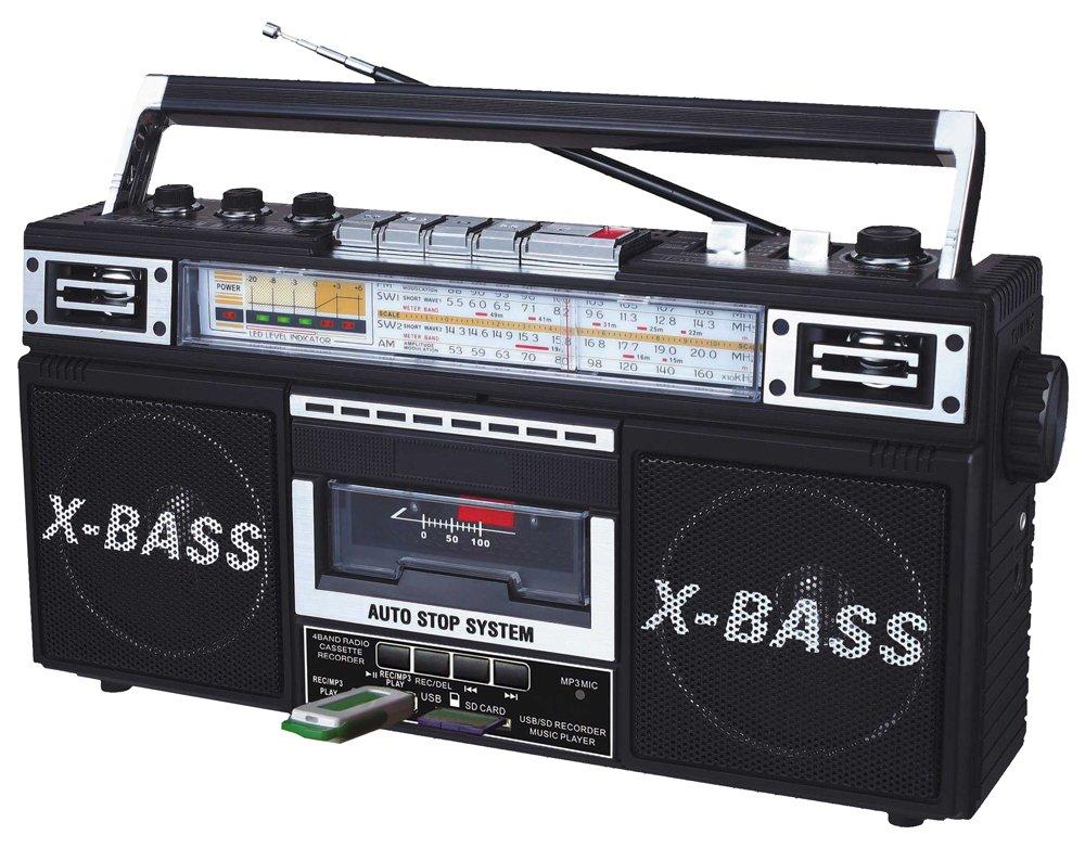 QFX J-22UBK ReRun X Radio and Cassette to MP3 Converter - Black 0