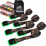XSTRAP Padded Cam Lock Buckle 6PK 8FT Powersports Tie-Downs Camouflage (Color: Camouflage with pad)