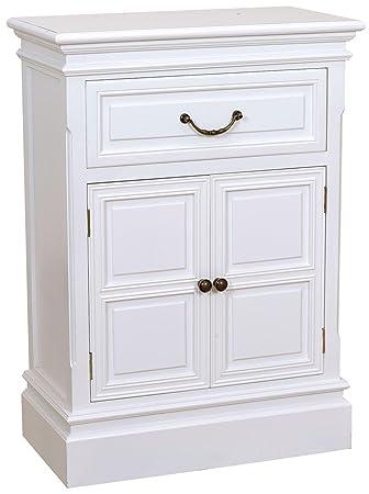 Kommode mit Turen und Schublade weiß 56 x 79 x 30 cm
