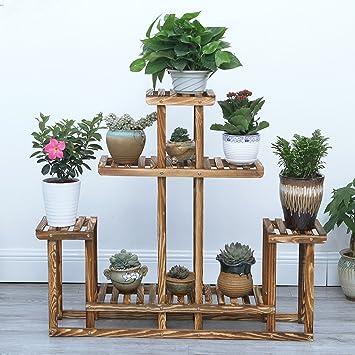 Massivholz Blumen Racks Antiseptische Holz Balkone Regale Innenboden Kiefer Töpfe Regal