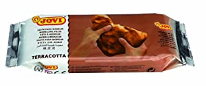 Jovi Premium European Air Dry Modeling Clay Pack of 3, White, Grey & Terracotta Clay, 1.1 Lb Each 3.3-Lbs Total; Non-Staining, perfect for Arts and Crafts Projects (Color: Assorted, Tamaño: 3.3 Pounds)