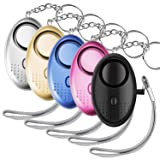 Personal Sound Alarm Keychain for Self-Defense- 5-Pack Multifunctional Safe-Sound Personal Alarm for Women, Kids, Elderly Stay Away From Assault,Rape- 140 Decibels- LED Light System for Night Security (Tamaño: 5 PACK)