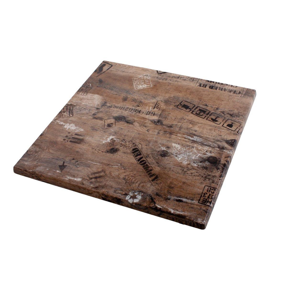 Werzalit / hochwertige Tischplatte / Ex works / 70/70 cm / Bistrotisch / Bistrotische / Gartentisch / Gastronomie bestellen