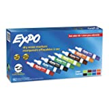 EXPO Low Odor Dry Erase Markers, Chisel Tip, Assorted Colors, 192 Count (Color: Assorted Colors, Tamaño: 192-Count)