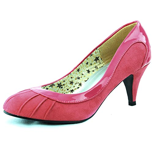 Womens High Heel Round Toe Pump Office Lady Work Interview Fashion Shoes