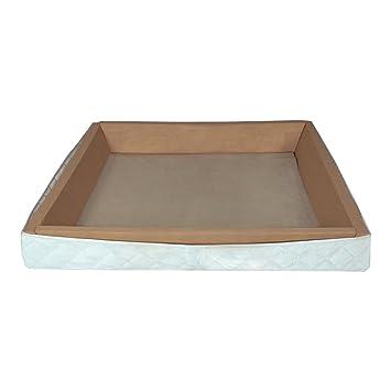Schaumstoffrahmen holzverstärkt fur freistehendes Softside Wasserbett 220x100 cm