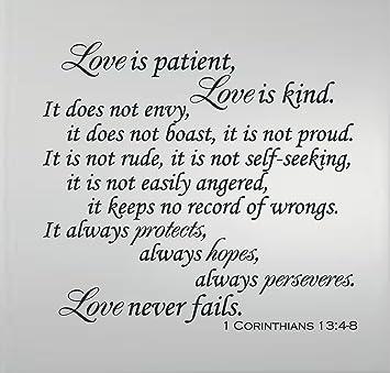 Quotes About Love 1 Corinthians : Bible Quote Love Is Patient - love is patient bible verse quote 1 ...