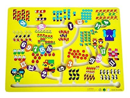 Enfants jouets en bois Préscolaire Maze jeu de société Jeu en Famille - Nombre