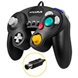 Gamecube Controller, HYCARUS Black Game Cube Controller with Turbo and Slow Buttons, Gamecube Controller Switch Edition for Nintendo Gamecube Controll