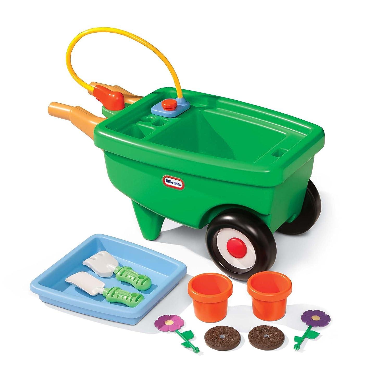 An Image of Little Tikes 2-in-1 Garden Cart and Wheelbarrow