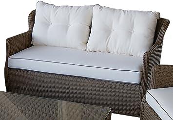 Ratán salón Set–classic. Elegant. cómodo.–Alta calidad–Marco de aluminio–10cm cojines–Patio mimbre muebles de jardín
